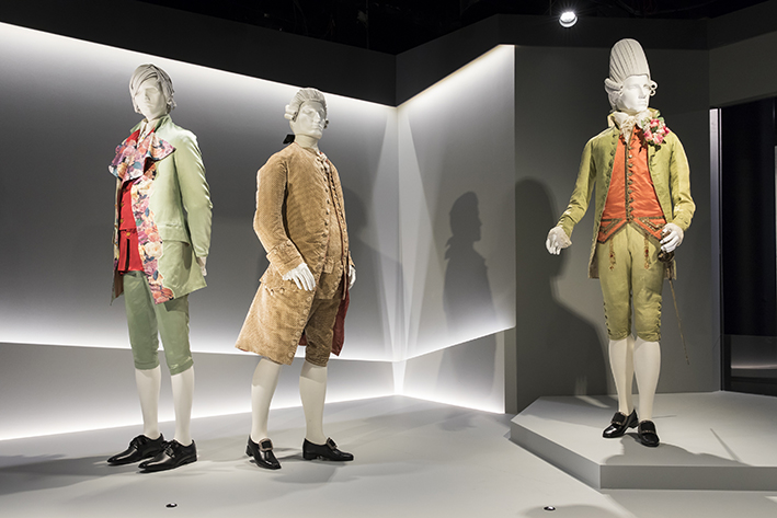 Reigning Men: Fashion in Menswear, 1715-2015 exhibition media launch, 1 May 2018.  Exhibition view.